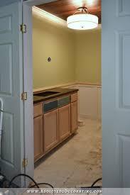 Horizontal Beadboard Bathroom Bathroom Vanity Trim Wainscoting Progress And Painted Walls