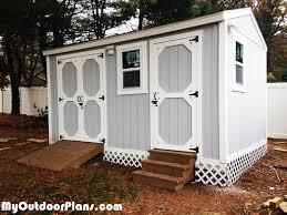 diy backyard storage shed with ramp and steps myoutdoorplans