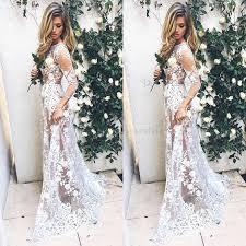 lace wedding dresses lace wedding dress a line bateau 3 4 sleeves sweep