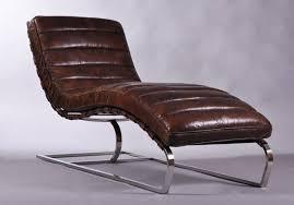 design liege design relax liege leder sofa antik chrom chaiselounge ebay