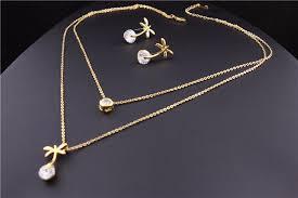 chain pendant necklace images Femnmas double chain pendant set femnmas jpg