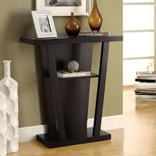 furniture cool black entryway tables with glass vase decoration