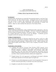 Resume For Detention Officer Prison Nurse Cover Letter