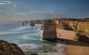 sea ocean twelve sea coastline victoria ocean apostles sand