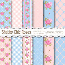 shabby chic wrapping paper shabby chic digital paper pink blue