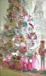 whimsical lollipop tree filled with decor