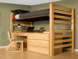 bureau lit mezzanine lit mezzanine adulte et aménagement de petits espaces loft bed
