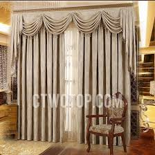 Valance Curtains For Living Room Designs Living Room Blackout Jacquard Light Brown Curtains No Include