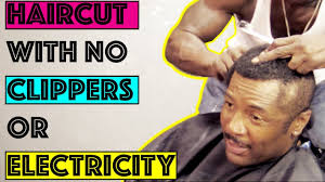 haircut with no clippers or electricity youtube