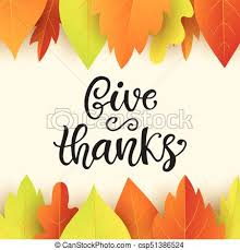 vector illustration of give thanks thanksgiving day poster