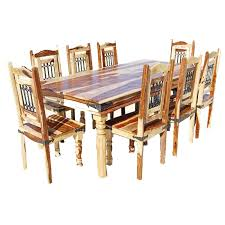 Dining Room Chairs Dallas by Classic Solid Wood 9pc Dining Room Table And Chair Set