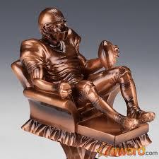 Armchair Quarterback Trophy Arm Chair Quarterback Fantasy Football Trophy With 16 Name Plates