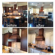 staining kitchen cabinets darker before and after painted cabinets nashville tn before and after photos