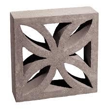 shop basalite 12 in x 4 in x 12 in gray cloverleaf screen block at