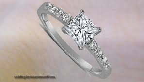 Princess Wedding Rings by White Gold Princess Cut Engagement Rings Detail Wedding And