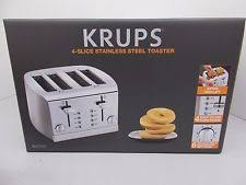 Calphalon 4 Slot Stainless Steel Toaster Krups Kh734d Breakfast Set 4 Slice Toaster With Brushed And Chrome