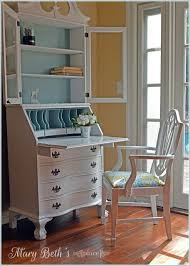 painting a desk white 24 best painted secretary images on pinterest painted secretary