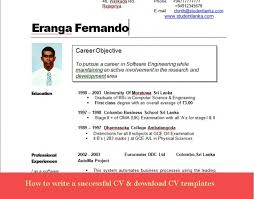 curriculum vitae format for job application sri lanka picture cv format for bank job in srilanka resume exle template