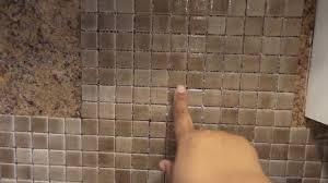 Can I Tile Over Tile Backsplash How To Install A Glass Tile Back Splash Over Formica Part 1 Youtube