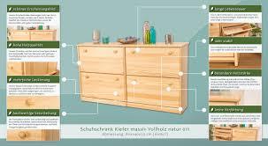 schuhschrank design shop schuhschrank 011 kiefer massiv vollholz natur abmessung 80x140x29cm