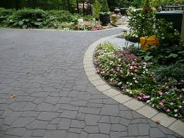driveway landscaping ideas circular curved and straight