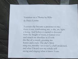 variation on a theme by rilke poem elf