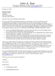 proper resume cover letter format information technology cover letter format career