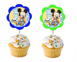 mickey mouse 1st birthday mickey mouse 1st birthday party personlized cupcaketoppers