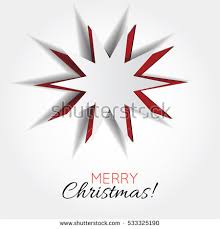 Graphic Design Holiday Cards Vector White Paper Christmas Star On Stock Vector 533325190