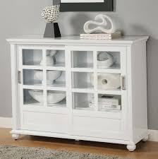 white wooden straight profiles line bookcase with glass doors and