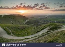 Park West Landscape by Spring Sunset At Devil U0027s South Downs National Park West