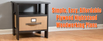 easy simple plywood nightstand plans