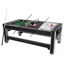 3 in 1 pool table air hockey triumph sports 3 in 1 84 multigame swivel table billiards table