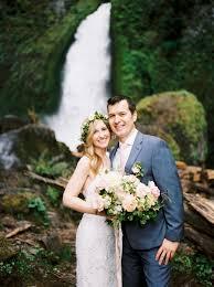 portland wedding photographers portland wedding photographer wahclella falls elopement