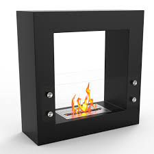 regal flame dora ventless free standing ethanol fireplace in black