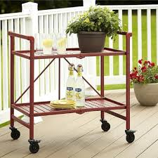 Kitchen Cart On Wheels by Amazon Com Rolling Serving Cart Wheels Outdoor Folding Portable