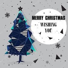 christmas tree polygonal design u2014 stock vector noppawan429 59154443