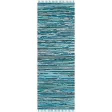 Aqua Runner Rug Safavieh Rag Rug Blue Multi 2 Ft 3 In X 14 Ft Runner Rug