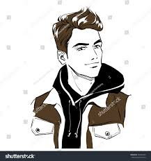 handsome young stylish man autumn clothes stock vector