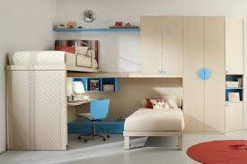Desk For 2 Kids by Cozy Beige Bedroom For Two With Colorful Headboard And Desk Under