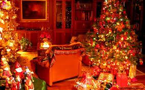merry vacation gifts tree happy beautiful santa