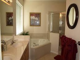 round wall mirror frameless classic style vanity master bathroom