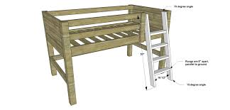 Free Diy Bunk Bed Plans by Free Diy Furniture Plans How To Build A Twin Sized Low Loft