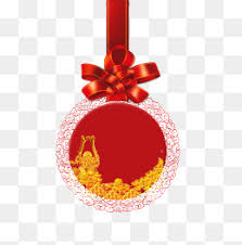 new year ornament yellow decorative paintings png image