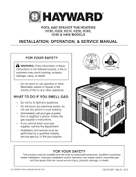 installation operation u0026 service manual