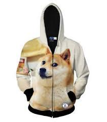 Meme Jacket - popular japanese doge meme jacket funny joke dog casual hoodie