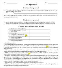 loan agreement word template ms word loan agreement template word