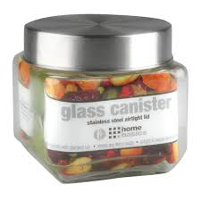 kitchen canisters jars glass the home depot small square glass jar