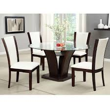 Circle Glass Table And Chairs 247shopathome Dining Sets U0026 Collections Standard Sears