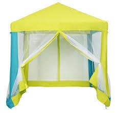 tente cuisine lou tente bleu lime h 160 x larg 140 x p 140 cm